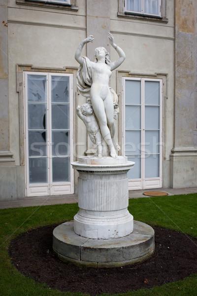 Bachantka Statue in Lazienki Krolewskie Stock photo © rognar