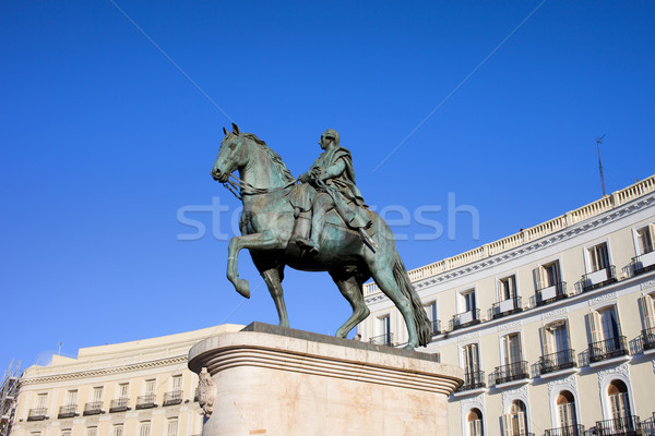 Statue of King Charles III in Madrid Stock photo © rognar