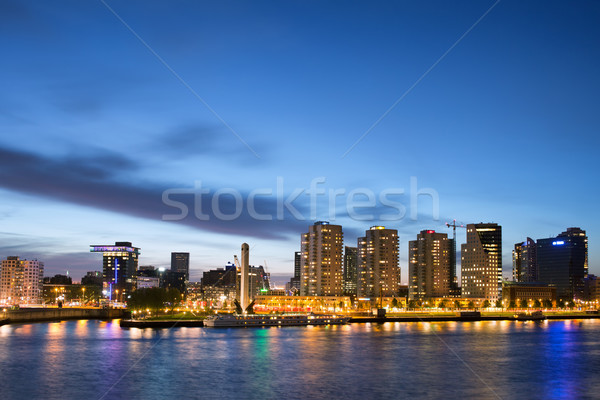 City of Rotterdam Skyline at Dusk Stock photo © rognar