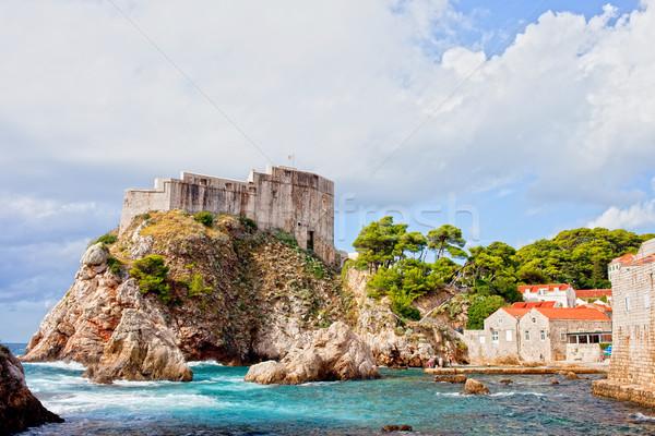 Сток-фото: форт · Дубровник · живописный · декораций · небольшой · морем