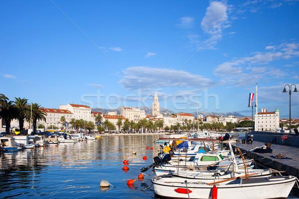 Ville Croatie scénique bord de l'eau mer vue Photo stock © rognar