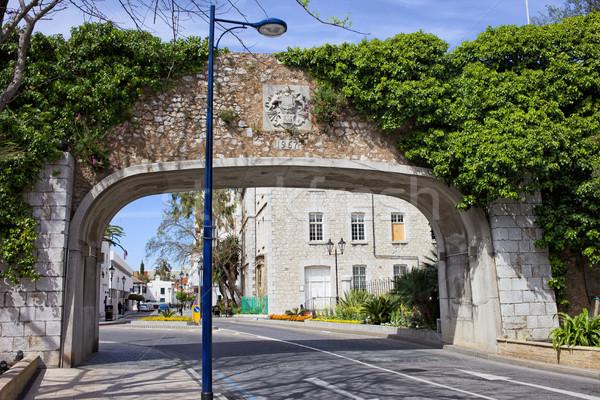 референдум ворот Гибралтар арки стены здании Сток-фото © rognar