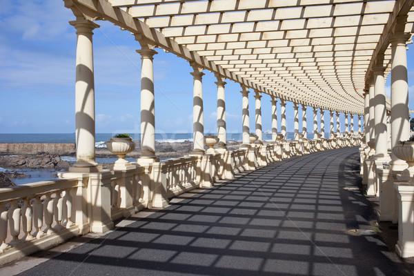 Stockfoto: Promenade · oceaan · kust · Portugal · reizen · stedelijke