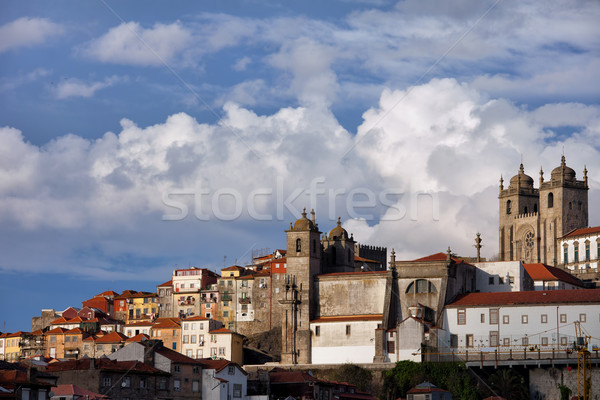 Old Town Skyline of Oporto in Portugal Stock photo © rognar
