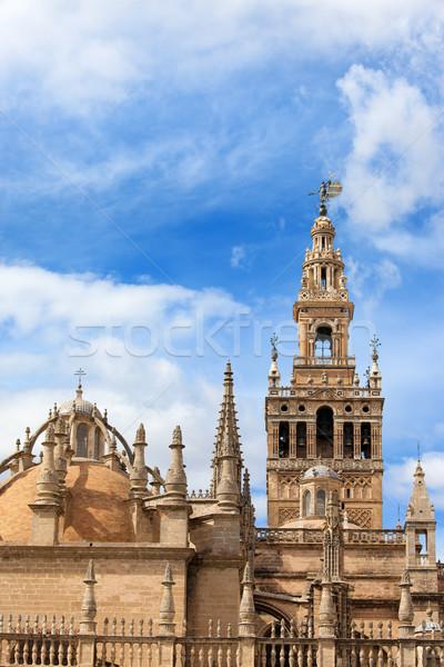 Katedry wieża kopuła la dzwon Hiszpania Zdjęcia stock © rognar