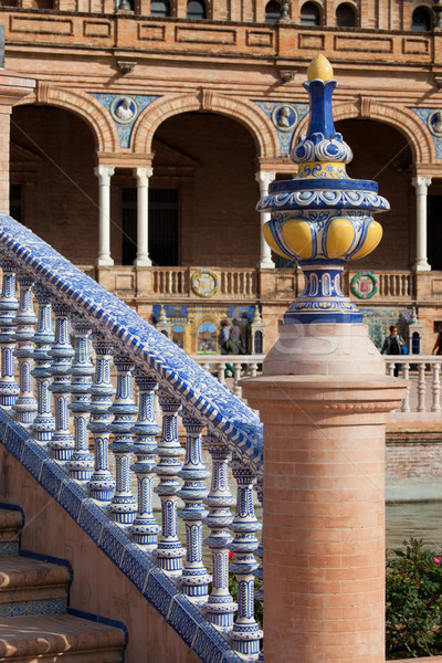 Azulejo Glazed Balustrade and Finial Stock photo © rognar