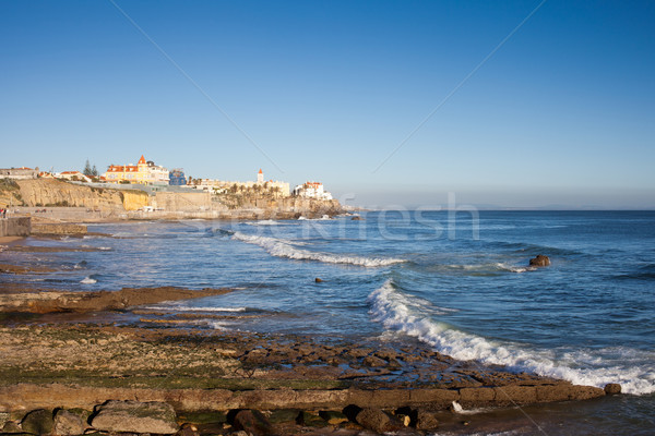 Atlantic Ocean Coast in Estoril Stock photo © rognar