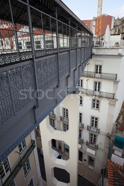 пешеходный мост лифт Лиссабон Португалия моста Сток-фото © rognar