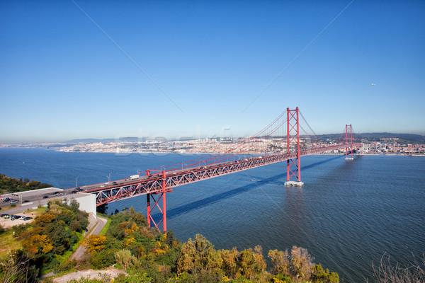 25 puente Portugal río Lisboa Foto stock © rognar