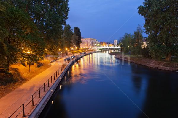 Evening at Brda River in Bydgoszcz Stock photo © rognar