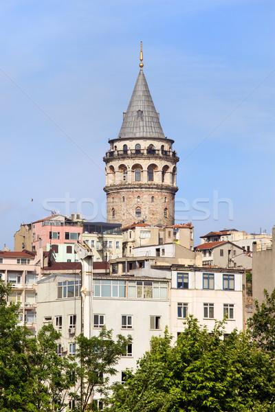 Torre Istanbul turco Cristo noto medievale Foto d'archivio © rognar