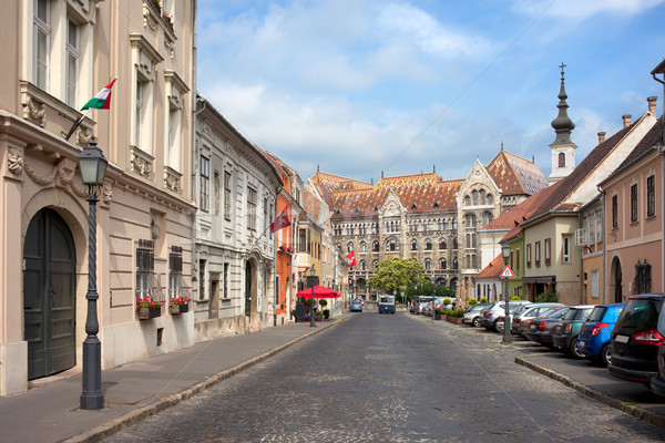 Castle District in Budapest Stock photo © rognar