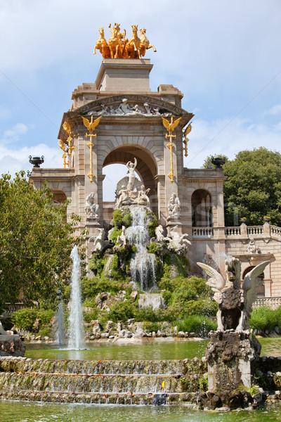 The Cascada in Parc de la Ciutadella in Barcelona Stock photo © rognar