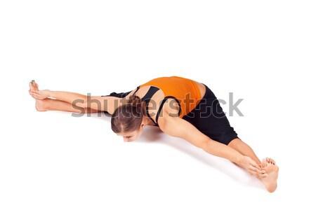 Woman Practicing Yoga Exercise Stock photo © rognar