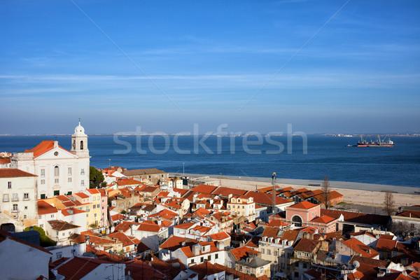 市 リスボン ポルトガル 旧市街 川 リオ ストックフォト © rognar