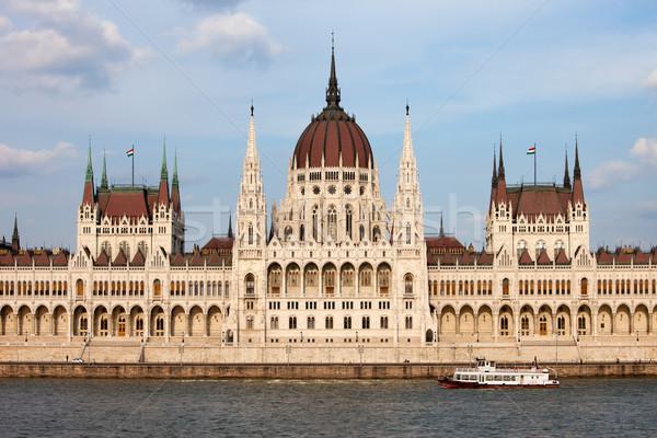 Hongaars parlement gebouw Boedapest gothic herleving Stockfoto © rognar
