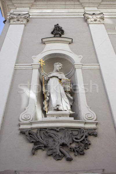 St Michael Church Statue in Budapest Stock photo © rognar