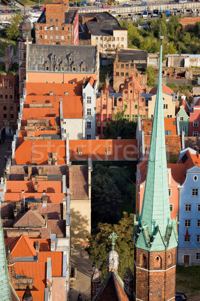 Old Town in Gdansk from Above Stock photo © rognar