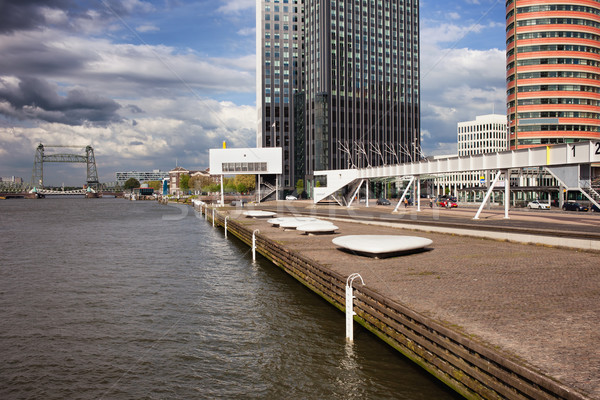 River Promenade in Rotterdam Stock photo © rognar