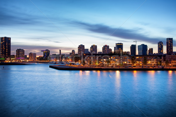Rotterdam at Dusk Stock photo © rognar