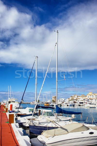 ストックフォト: ポート · 休日 · リゾート · マリーナ · スペイン · 地域