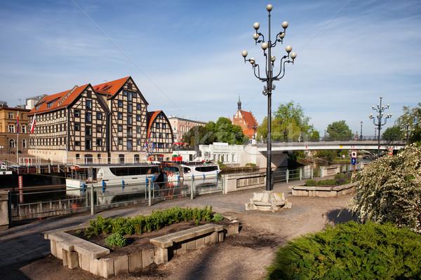 City of Bydgoszcz with Granaries at Brda River Stock photo © rognar