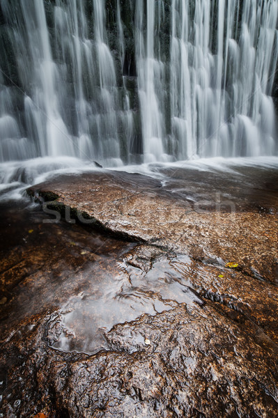 Wild Waterfall in Karpacz Stock photo © rognar