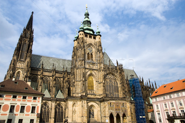 St Vitus Gothic Cathedral in Prague Stock photo © rognar