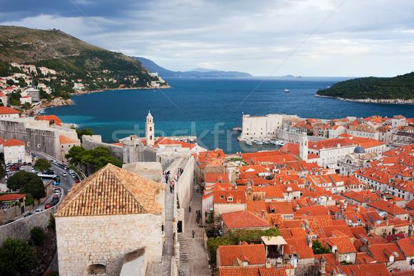Dubrovnik on the Adriatic Sea in Croatia Stock photo © rognar