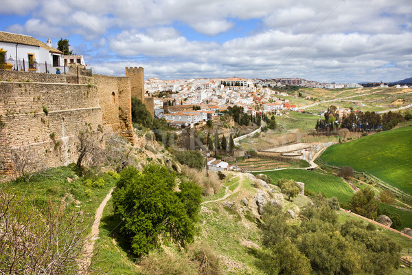 アンダルシア 絵のように美しい 風景 市 スペイン ストックフォト © rognar