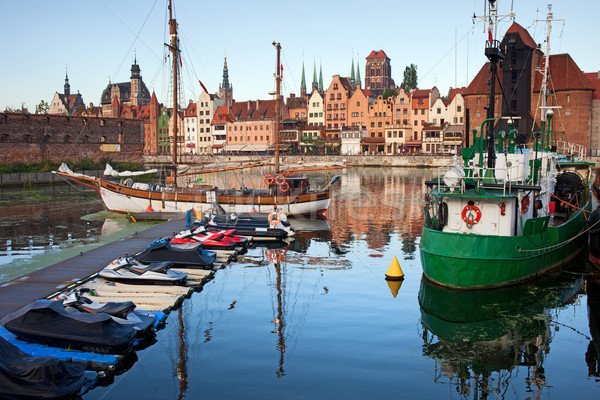 Vieille ville gdansk Skyline marina vue ville Photo stock © rognar