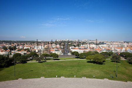 Garden of San Pedro de Alcantara in Lisbon Stock photo © rognar