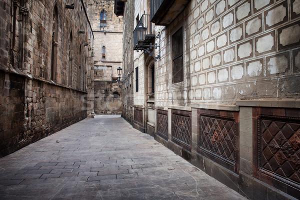 Geçit Gotik çeyrek Barcelona eski Stok fotoğraf © rognar
