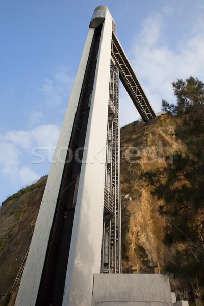 Lift Portugal Europa lift moderne heuvel Stockfoto © rognar