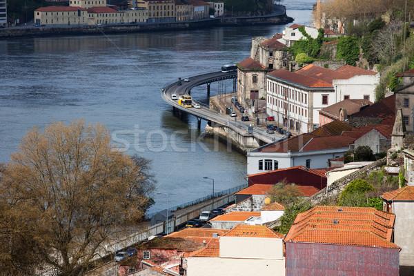 şehir nehir Portekiz su sokak Stok fotoğraf © rognar
