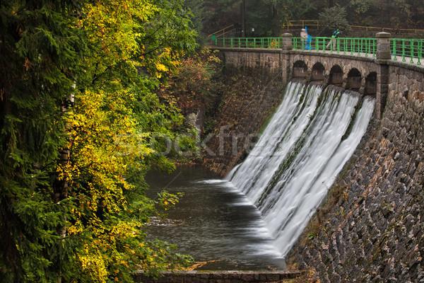 Dam on Lomnica River in Karpacz Stock photo © rognar