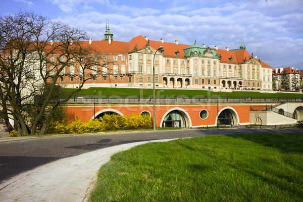 Reale castello Varsavia città vecchia Polonia costruzione Foto d'archivio © rognar
