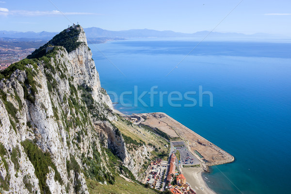 Gibraltar Rock by the Mediterranean Sea Stock photo © rognar