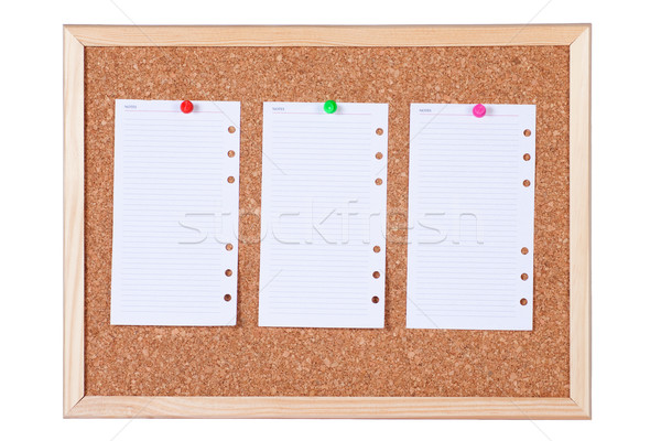 Isolated Corkboard with Blank Paper Notes Stock photo © rognar