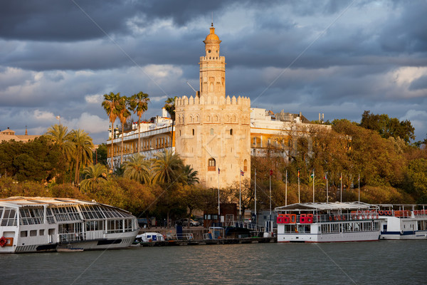 Gold Tower of Seville at Sunset Stock photo © rognar