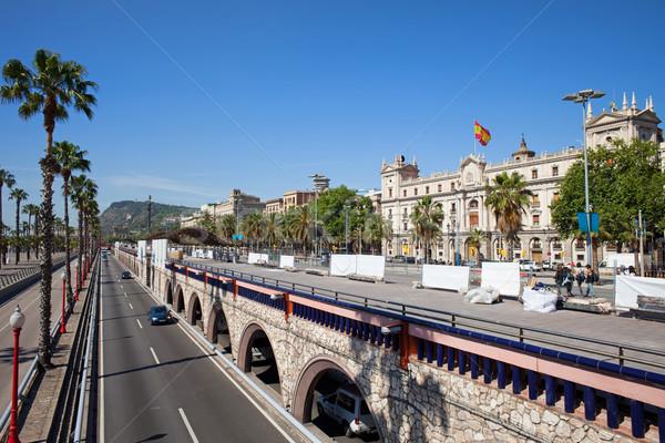 Otoyol Barcelona mesire taşıma altyapı şehir Stok fotoğraf © rognar