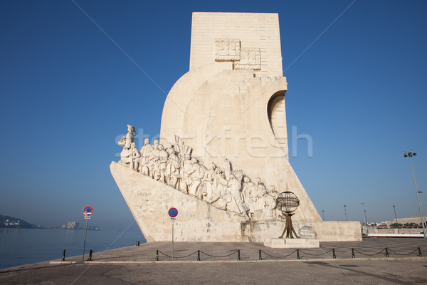 Monument to the Discoveries in Lisbon Stock photo © rognar