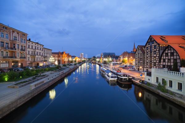 Bydgoszcz Night Cityscape Stock photo © rognar
