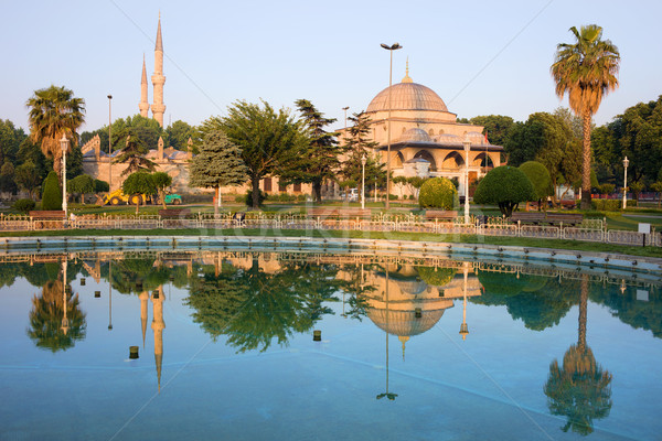 Mausoleum of Sultan Ahmet I in Istanbul Stock photo © rognar