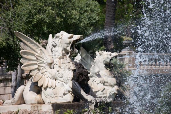 фонтан Барселона всплеск воды город Сток-фото © rognar