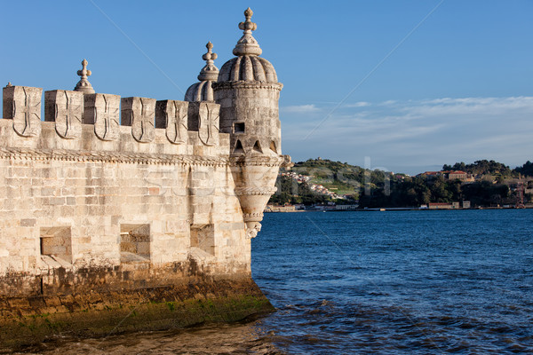 Belem Tower Fortification on the Tagus River Stock photo © rognar