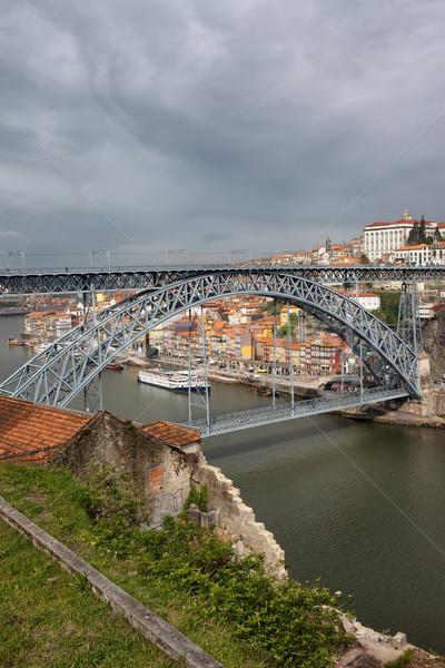 Dom Luis I Bridge in Porto and Gaia Stock photo © rognar