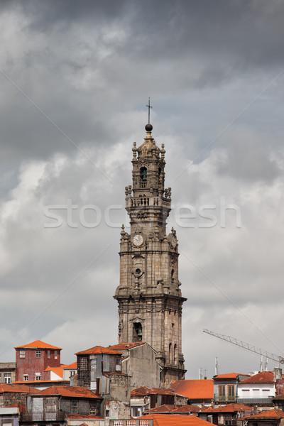 Clerigos Church Bell Tower in Porto Stock photo © rognar