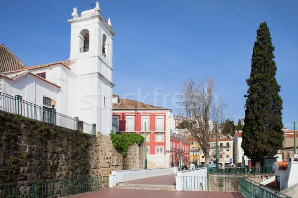Lisbon from Miradouro das Portas do Sol Stock photo © rognar