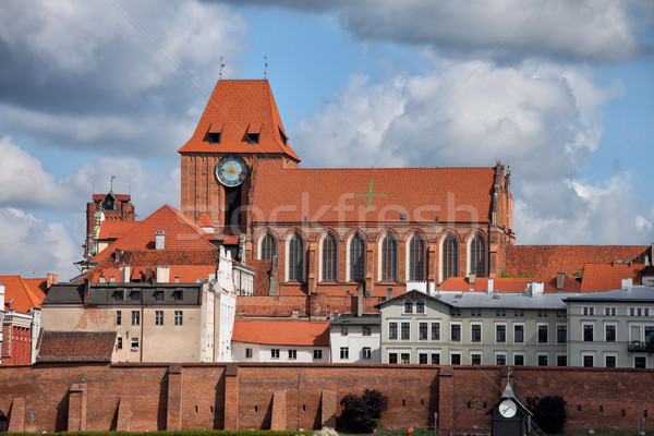 Medieval Old Town of Torun City Skyline Stock photo © rognar